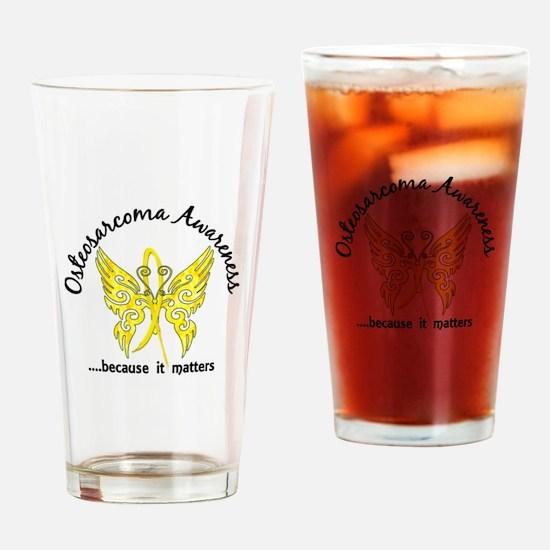 Osteosarcoma Butterfly 6.1 Drinking Glass