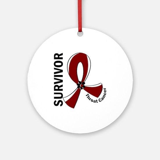 Throat Cancer Survivor 12 Ornament (Round)