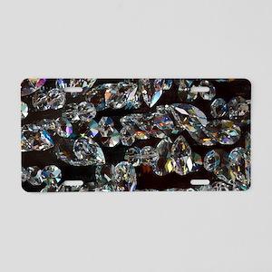 black diamonds Aluminum License Plate