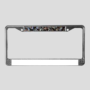 black diamonds License Plate Frame