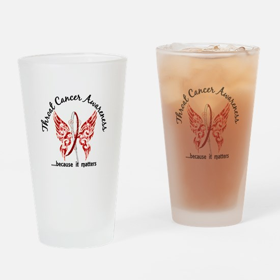 Throat Cancer Butterfly 6.1 Drinking Glass
