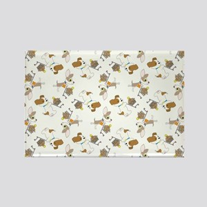 SHOPPING DOGS Rectangle Magnet