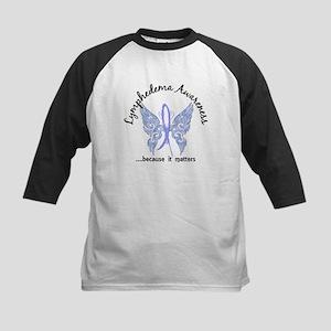 Lymphedema Butterfly 6.1 Kids Baseball Jersey