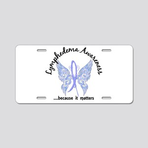 Lymphedema Butterfly 6.1 Aluminum License Plate