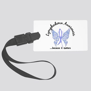 Lymphedema Butterfly 6.1 Large Luggage Tag