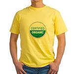 CERTIFIED ORGANIC Yellow T-Shirt