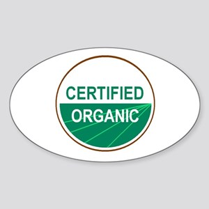CERTIFIED ORGANIC Oval Sticker
