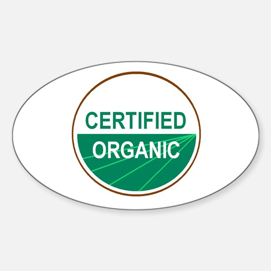 CERTIFIED ORGANIC Oval Decal