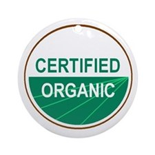 CERTIFIED ORGANIC Ornament (Round)