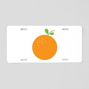 Orange Aluminum License Plate