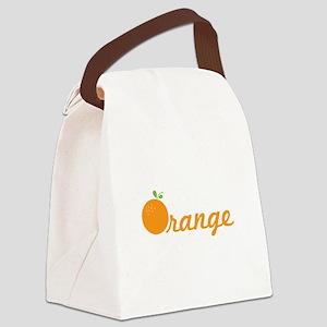 Orange Canvas Lunch Bag