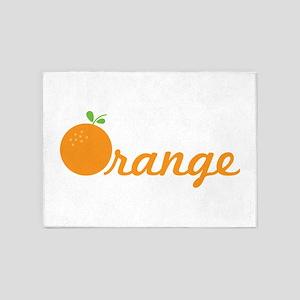 Orange 5'x7'Area Rug