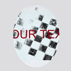 Checkered Flag Ornament (Oval)