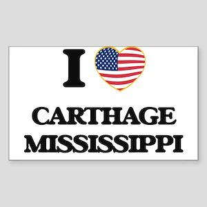 I love Carthage Mississippi Sticker