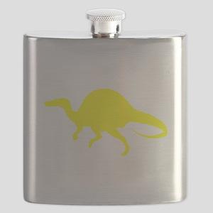 Spinosaurus Silhouette (Yellow) Flask