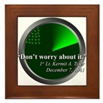 Don't Worry About It Framed Tile