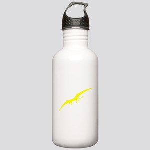 Pterodactyl Silhouette (Yellow) Water Bottle