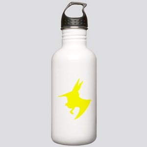 Pteranodon Silhouette (Yellow) Water Bottle
