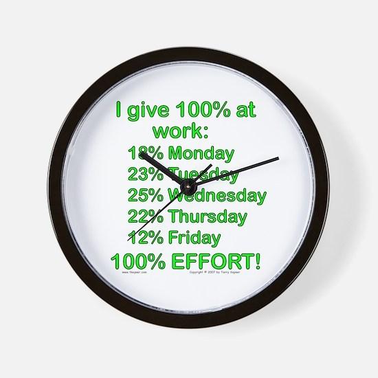 100% At Work! Wall Clock