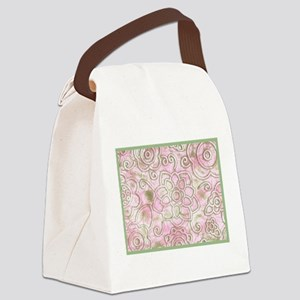 Enlarged Wild Flowers Canvas Lunch Bag