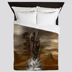 Fantasy landscape Queen Duvet