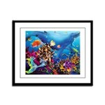 Talking To The Fish Framed Panel Print