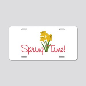 Spring Time Aluminum License Plate