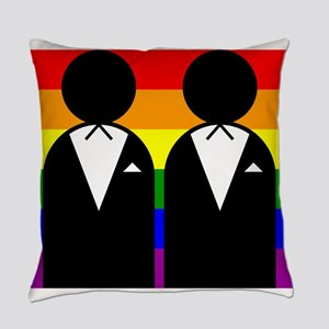 Two Grooms Everyday Pillow