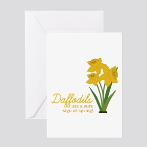 Sign Of Spring Greeting Cards