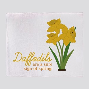 Sign Of Spring Throw Blanket