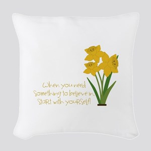 Something To Believe Woven Throw Pillow