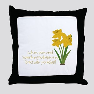 Something To Believe Throw Pillow