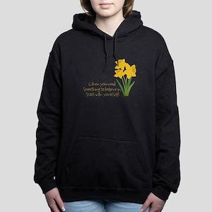 Something To Believe Women's Hooded Sweatshirt