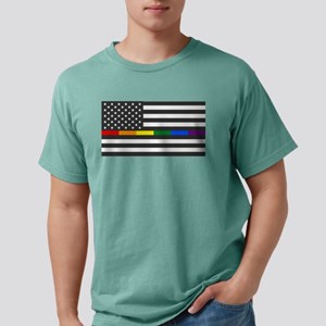 Thin Rainbow Line Flag T-Shirt