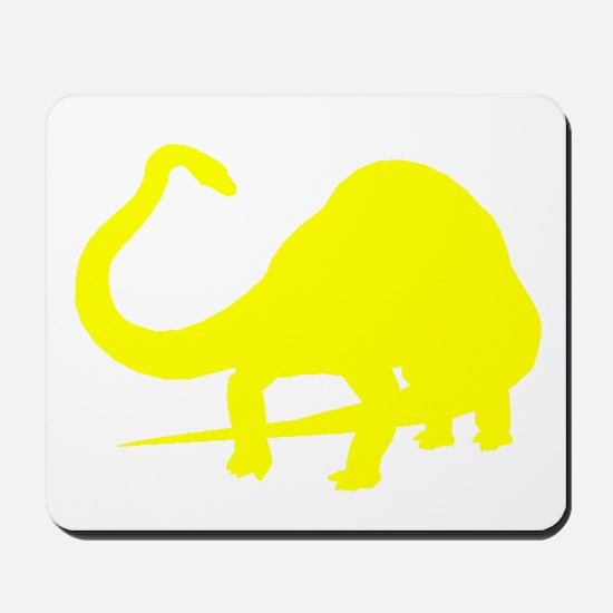 Diplodocus Silhouette (Yellow) Mousepad