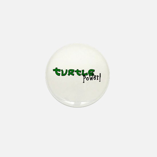 Cute Turtle power Mini Button