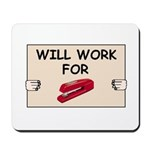 RED STAPLER HUMOR Mousepad