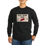 RED STAPLER HUMOR Long Sleeve Dark T-Shirt