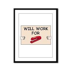 RED STAPLER HUMOR Framed Panel Print