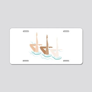 Synchronized Swimming Aluminum License Plate
