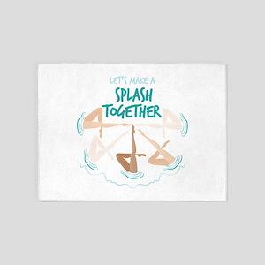 Splash Together 5'x7'Area Rug