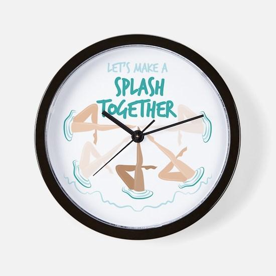 Splash Together Wall Clock