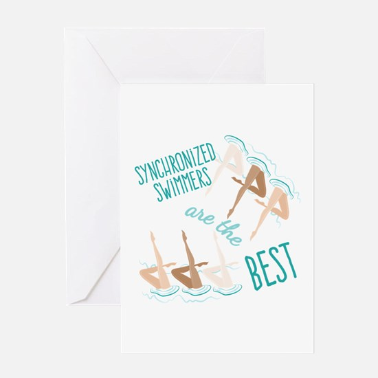 Best Swimmers Greeting Cards