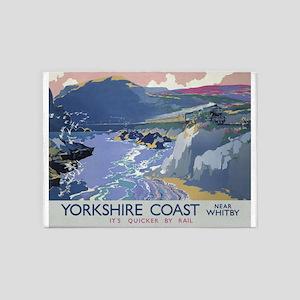 Yorkshire Coast Vintage Travel Poster 5'x7'Area Ru