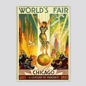 Chicago World's Fair Vintage Travel 5'x7&#