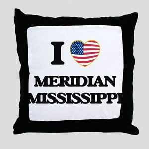 I love Meridian Mississippi Throw Pillow