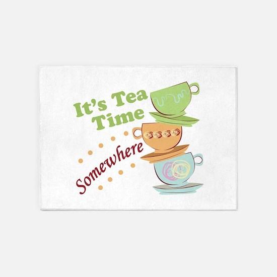 It's Tea Time 5'x7'Area Rug