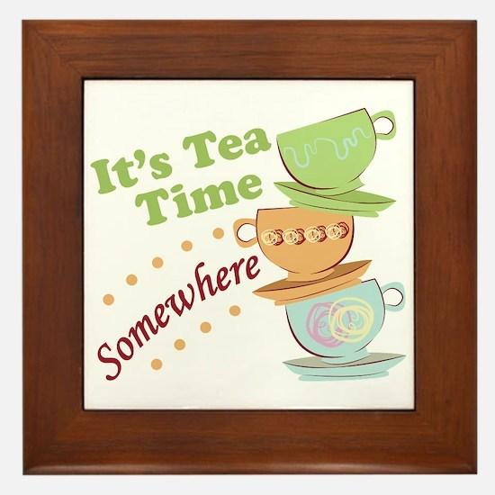 It's Tea Time Framed Tile