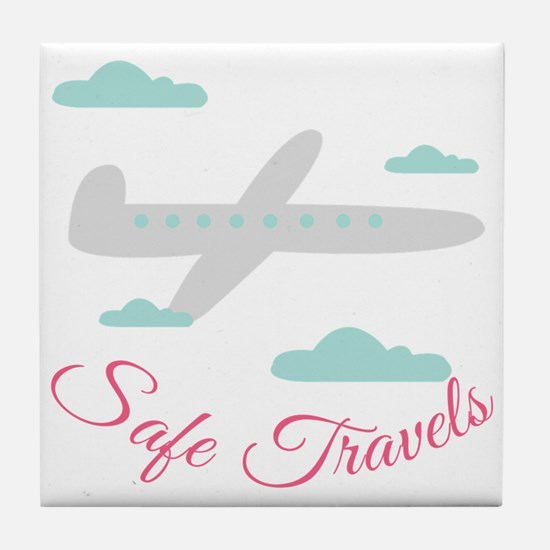 Safe Travels Tile Coaster