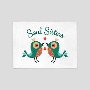 Soul Sisters 5'x7'Area Rug